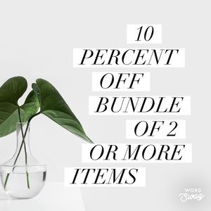 Bundle for 10% Off 2+ Items!